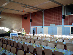Ligno Acoustic Light Panels in Community Halls