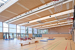 Ligno Acoustic Light Panels in Sports Halls