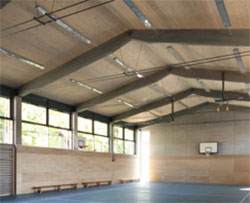 LIGNO Acoustic Light Panels in Sports Centres