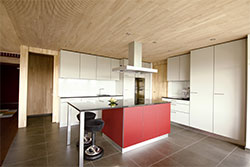 Ligno Acoustic Light Panels on Kitchen Ceilings