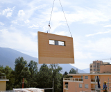 Craned in Pre-fabricated Wall